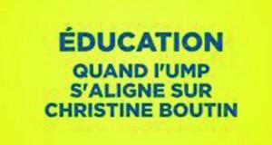Education : l'UMP s'aligne sur Christine Boutin