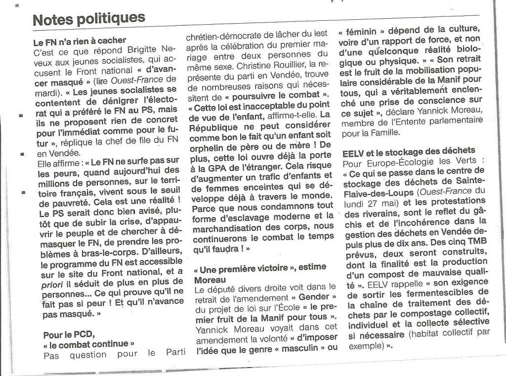 CP PCD Vendée- Continuons le combat
