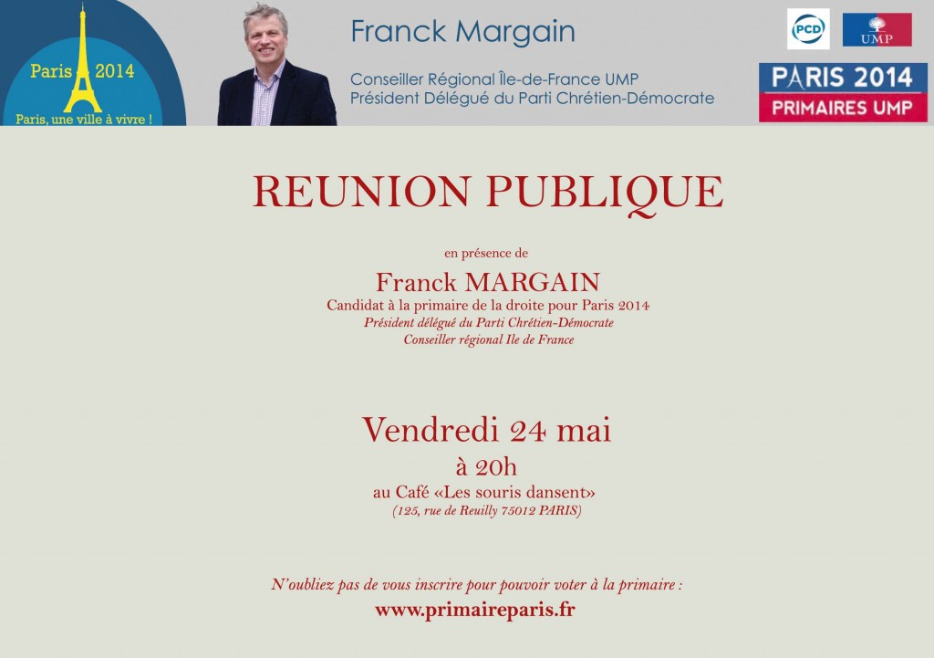 invitation Franck Margain - Paris 24 mai