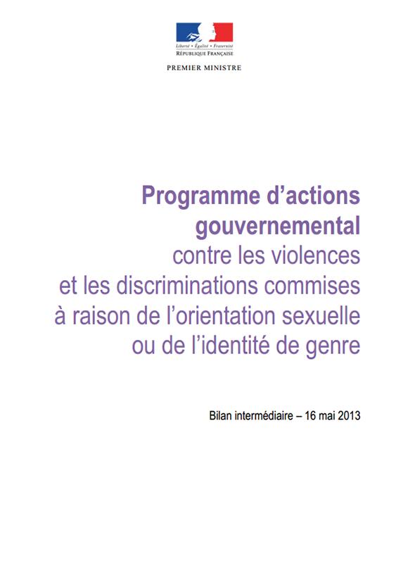 Document intergouvernemental du 16 mai 2013 contre les violences et les discriminations commises à raison de l'identité de genre
