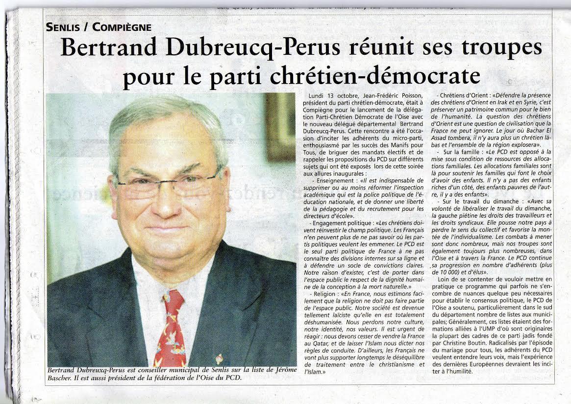 Oise hebdo : la délégation PCD de l'Oise est lancée !