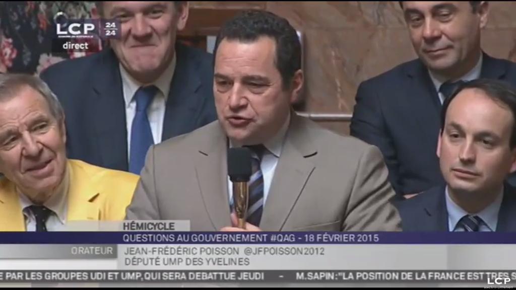 Loi Macron et recours au 49.3 : question de Jean-Frédéric Poisson à Manuel Valls