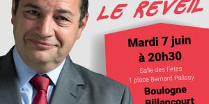 Réunion publique de Jean-Frédéric Poisson le 7 juin à Boulogne-Billancourt