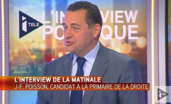Primaire – Jean-Frédéric Poisson était l'invité de la matinale de Mickaël Darmon sur Itélé.