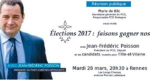 Législatives : Réunion publique à Rennes le mardi 28 mars