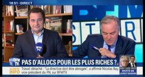 Jean-Frédéric Poisson était sur BFMTV pour dénoncer la fin de l'universalité des allocations familiales par le Gouvernement Macron