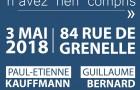Conférence-événement le 3 mai 2018 à Paris
