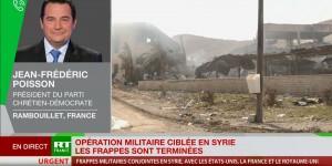 Syrie : Jean-Frédéric Poisson dénonce les frappes militaires, sur RT France