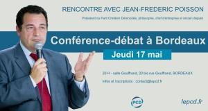 Jean-Frédéric Poisson à Bordeaux le 17 mai