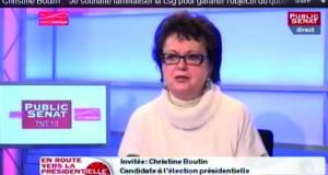 """Christine Boutin : """"Je souhaite familialiser la csg pour garantir l'objectif du quotient familial"""""""