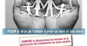 Le PCD s'engage contre le «mariage pour tous» : à diffuser largement !