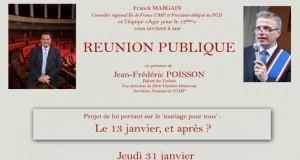 Réunion publique à Paris le 31 janvier autour du projet de loi sur le «mariage pour tous»