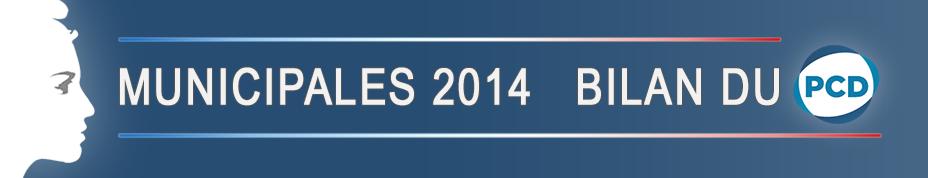 Municipales 2014 | Bilan du PCD