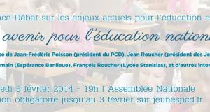 5 février: conférence sur l'avenir de l'éducation nationale