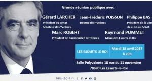 Présidentielle : réunion de soutien à François Fillon, Les Essarts le Roi, mardi 18 avril