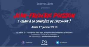 Jean-Frédéric Poissondonnera une conférence jeudi 17 janvier à Versailles