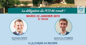 Rencontre du PCD 86 mardi 22 janvier à 19h30 à Poitiers