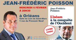 Conférence de Jean-Frédéric Poisson mercredi 6 février à 20h30 à Orléans