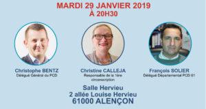 Rencontre du PCD 61 mardi 29 janvier à 20h30 à Alençon