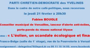 Café-Politique du PCD 78 à Versailles le jeudi 21 février à 20h30
