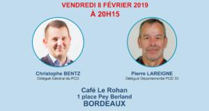 Rencontre militante du PCD 33 à Bordeaux le vendredi 8 février à 20h15
