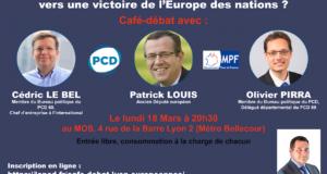 Café-débat du PCD 69 : Européennes 2019