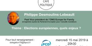 Café-politique du PCD 78 à Versailles le mercredi 15 mai : « Elections européennes, quels enjeux ? »