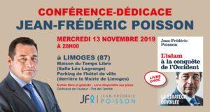 Conférence-dédicace de Jean-Frédéric Poisson à Limoges