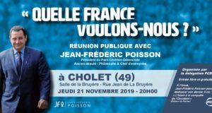 Réunion publique de Jean-Frédéric Poisson à Cholet (49) le 21/11