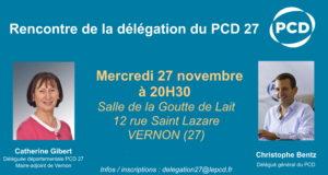Rencontre de la délégation du PCD de l'Eure (27) à Vernon le 27/11