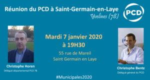 Réunion du PCD à Saint Germain en Laye – 07/01/20
