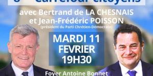 Réunion publique avec Jean-Frédéric Poisson à Carpentras le 11/02