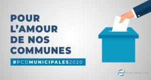 Un site internet dédié aux candidats du PCD aux municipales 2020 !