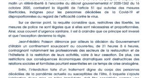 Communiqué de Presse   Référé-liberté contre les mesures liberticides du couvre-feu